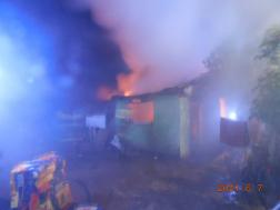 Tűz volt egy karcagi melléképületben