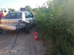 Négy autó ütközött Martfűnél