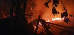 Leégett egy erdészház Kengyelen